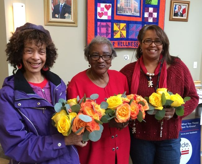 Urban Petals donated flowers to Mary's Center.