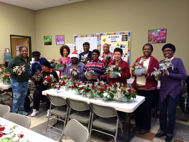 Mary's Center donated flower workshop - Urban Petals